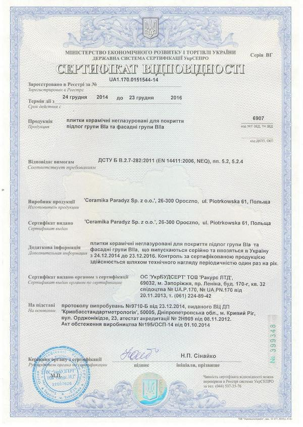 company certificates termodom 2