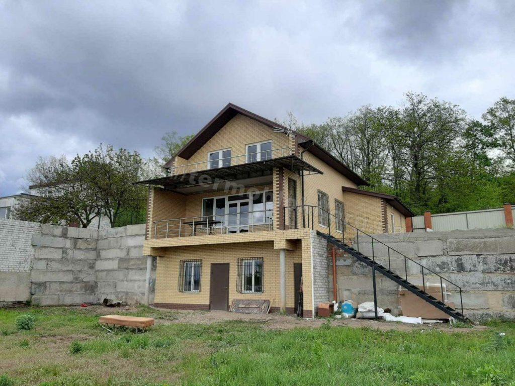 Диброво. Днепропетровская область. Термопанель с фасадной плиткой Церрад песочная (фасад) и браз (углы) 6