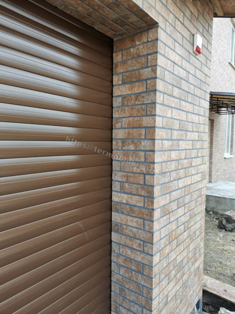 Київ термопанелі з фасадною керамогранитною плиткою бейкер стріт бежевий голден тайл 2