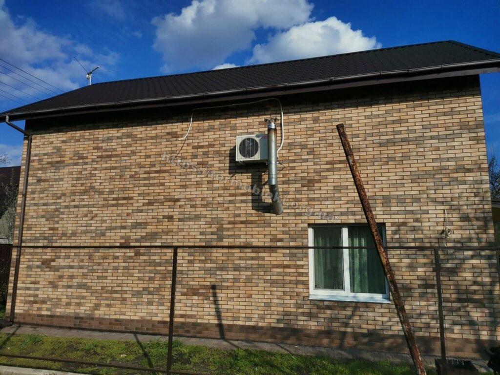 Днепр. Самаровка. Термопанель Термодом с клинкерной фасадной плиткой лофт масала 16