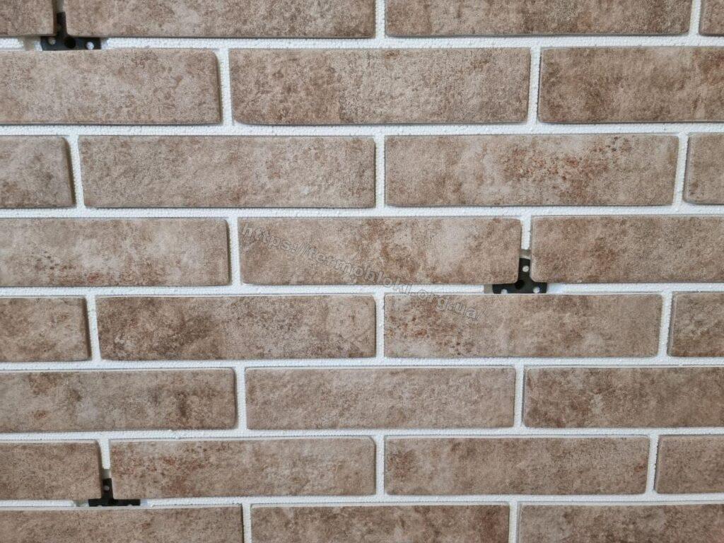 панель «Термодом» с керамогранитной плиткой брикстайл «бейкер стрит светло бежевый» слим 1