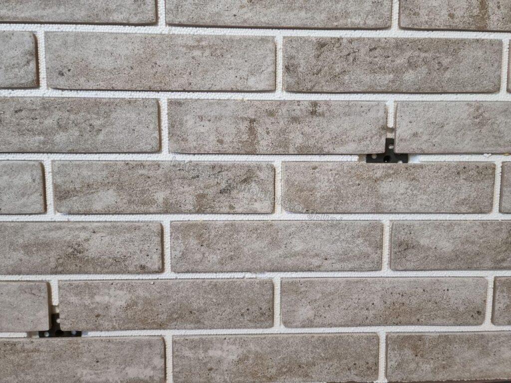 панель «Термодом» с керамогранитной плиткой брикстайл «лондон дымчатый» слим 1